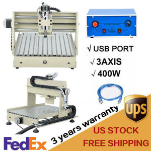 3 Axis 3040 Usb Cnc Router Engraver 3d Cuttrer Woodworking Engraving Machine Us