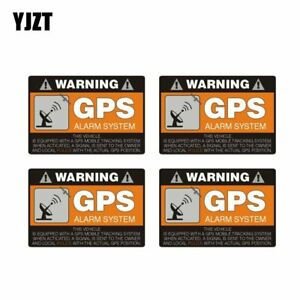 4x 8cm 5 3cm Warning Car Sticker Gps Alarm System Decal Pvc Security Stickers