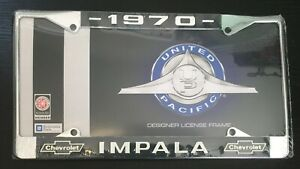 1970 Impala License Plate Frame New Chrome Steel For 6 By 12 Plate 1 Piece