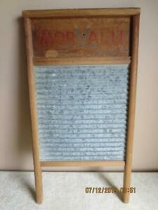 Vtg Morvalu Solid Galvanized Washboard Columbus Washboard Co Laundry Size 2095