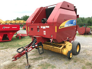2007 New Holland Br7070 Round Baler 4x6 Bales Twine New Wrap Wide Pickup