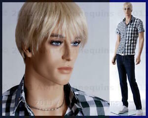 Male Mannequins Display Brand New Standing Full Body Hand Made Manikin Alex