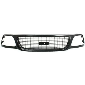 Grille For 99 2002 Ford Expedition Gray Plastic