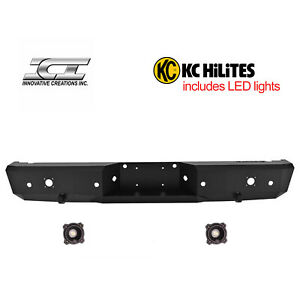 Rbm25chn kc Magnum Off Road Rear Bumpers With Kc Hilites Led Reverse Lights Ici