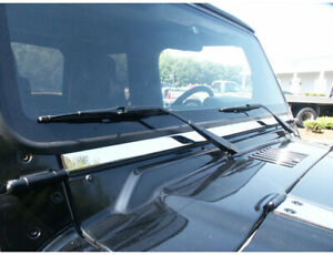 Wt45090 Windshield Accent Fits 1997 2006 Jeep Wrangler 2dr