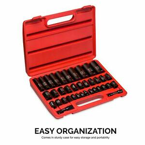 Neiko 3 8 And 1 2 Drive Master Impact Socket Set 38 Piece Deep And Shallow