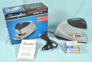 Swingline Electric Stapler Optima 45 45 Sheet Capacity Jam Free Silver