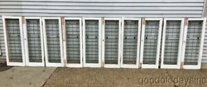 2 Of 10 Antique Chicago Bungalow Stained Leaded Glass Window Door Circa 1925