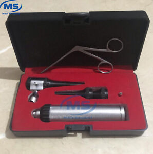 Brand New Led Lense Veterinary surgical Operating Otoscope Kit