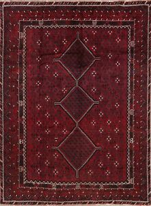 Vintage Geometric South Western Red Kashkoli Oriental Area Rug Hand Knotted 8x10