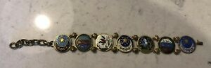 Antique Turkey Arabic Islamic Enamel Bracelet Arabic Symbols Moon Star