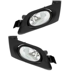 For 2001 2003 Honda Civic 2dr 4dr Clear Lens Fog Lights Lamps W Switch Bulbs