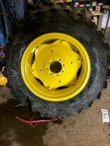 2 Used 13 6x28 Firestone Sat ii 23 Degree R1 8ply Tires With Wheels And Centers