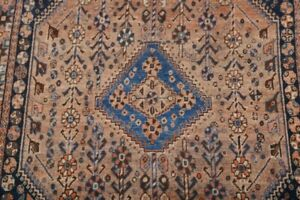 Pre 1900 Vegetable Dye Tribal Antique Abadeh Oriental Area Rug Hand Knotted 5x8