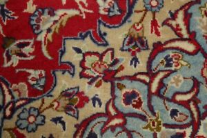 Excellent Vintage Traditional Floral Red Large Area Rug Hand Knotted 9x13 Wool