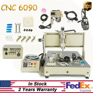 Usb 4 Axis 6090 Cnc Router Engraver Machine Pcb Wood Diy Drilling Milling Cutter