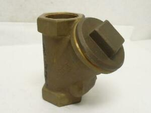 177349 Old stock Nibco T413b 1 1 4 Bronze Wye Check Valve 1 1 4fnpt 600cwp