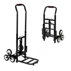 Foldable Folding Luggage Cart And Hand Truck Trolley 6 Wheels 330lbs
