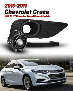 For 2017 2019 Chevrolet Cruze Bumper Fog Lights Clear With Wiring Harness bulbs