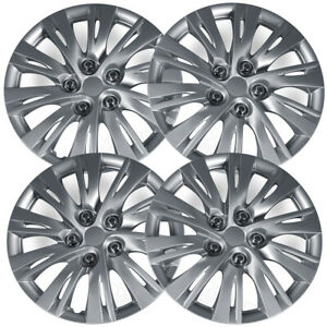 4pc Hub Caps Fits 12 14 Toyota Camry 16 Inch Wheel Cover Rim Silver Skin