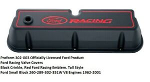 Proform 302 003 Ford Racing Valve Covers Black Small Block Ford Engines