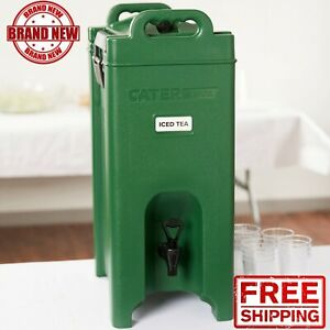 Insulated Hot Cold Catering 5 Gallon Beverage Drink Dispenser Coffee Tea Green