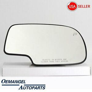 For Chevy Silverado Yukon Avalanche Mirror Glass Power Heated Right Rh Passenger