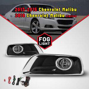 For 2013 2015 Chevrolet Malibu Replace Fog Lights Car Lamp Harness Kit Bulb Pair