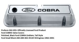 Proform 302 055 Ford Cobra Valve Covers Polished Small Block Ford Engines