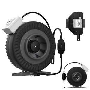 Vivohome 6 Inline Duct Fan Exhaust Air Blower Ventilation With Speed Controller