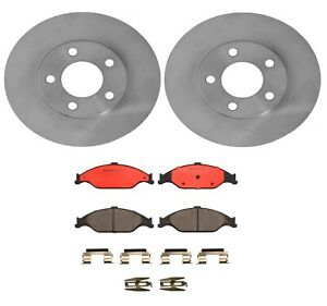 Brembo Front Brake Kit Disc Rotors Ceramic Pads For Ford Mustang Gt Base 99 04