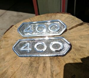 Dodge Truck Emblems Sweptline Power Wagon D400 W400 Vintage Classic Pair