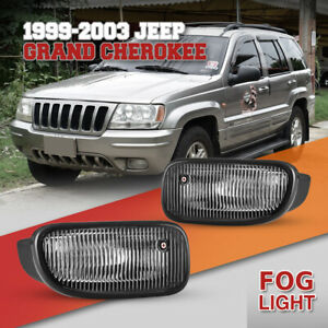 Fog Lights For 99 03 Jeep Grand Cherokee Clear Lens Replace Factory Lamp Pair