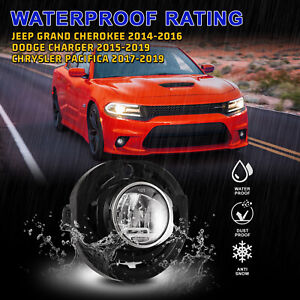 Led Fog Lights For 15 19 Dodge Charger 14 16 Jeep Grand Cherokee Lamp Clear Set