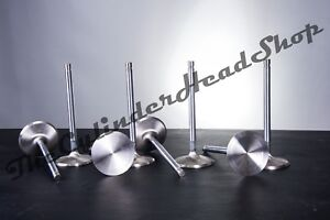 Small Block Chevy Stainless Steel Intake Valves 2 02 1 Piece Sbc Stock Length