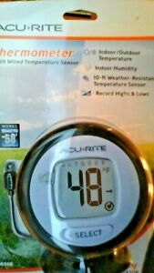 Acurite Digital Thermometer With 10 Wired Temperature Sensor Probe