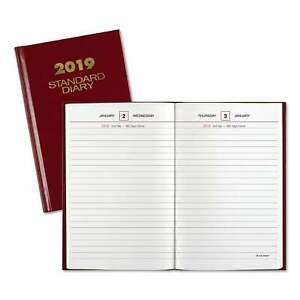 At a glance Standard Diary Recycled Daily Reminder Red 6