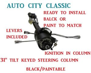 Street Rod Keyed Tilt Steering Column 31 Chevy Gm Black Painted Automatic