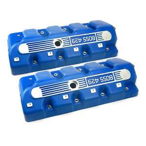 Fits Ford Boss 429 Cast Aluminum Valve Covers Blue