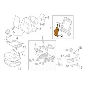 For Toyota Genuine Seat Lumbar Support Cushion Left 7276006060