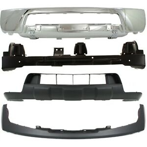 New Bumper Face Bar Kit Front Chrome For Nissan Frontier 2005 2008