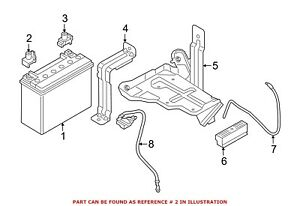 For Bmw Genuine Battery Terminal Protector 61217625242