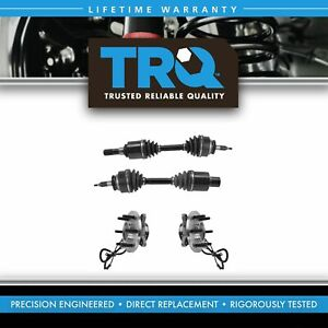 Trq Front Cv Axle Shaft Assembly Wheel Hub Bearing Set 4pc For Expedition Nav