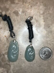 For Two Grade A 100 Natural Genuine Burmese Jadeite Jade Ruyi Pendant Necklace