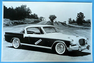 1956 Studebaker Golden Hawk 12 X 18 Black White Picture