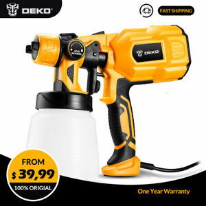 Deko 110v 550w High Power Home Electric Paint Sprayer Spray Gun 2 Nozzle