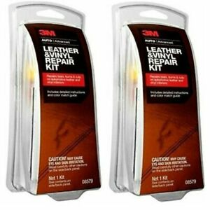 Leather vinyl Repair Kit Furniture Car Seat Couch Filler Patch 3m Adhesive 2pk