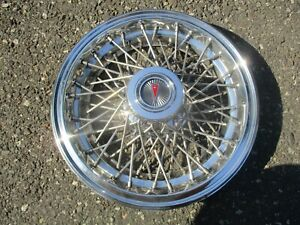 One Factory 1982 To 1989 Pontiac Parisienne Wire Spoke Hubcap Wheel Cover Mint