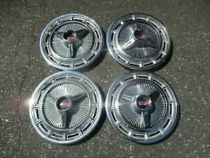 1965 Chevy Impala Super Sport 14 Inch Spinner Hubcaps Wheel Covers Set
