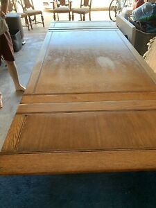 Antique Dining Room Draw Leaf Table And 4 Chairs